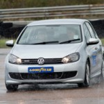 VW Golf with four new Goodyear EfficientGrip tyres